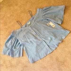 Nordstrom BP cold shoulder blouse